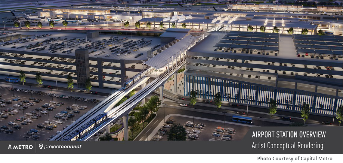 KFA continues preliminary engineering for the Capital Metro Blue Line, part of the voter-approved Project Connect transit initiative